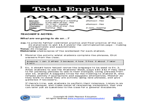 Total English: ELL Activity Worksheet