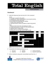 Total English Intermediate: Puzzleword Worksheet