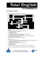 Total English Intermediate: The Lifestyle Crossword Worksheet