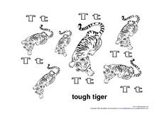 Touch Tiger Worksheet
