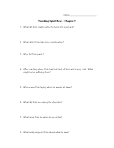 Touching Spirit Bear Chapter 5 Lesson Plan