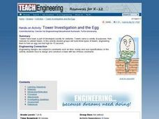 Tower Investigation and the Egg Lesson Plan