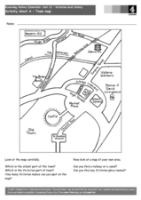 Town Map Worksheet