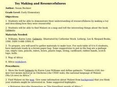 Toy Making and Resourcefulness Lesson Plan