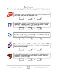 Toy Stories: Word Problems Lesson Plan