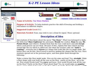 Toy Story Statues Lesson Plan