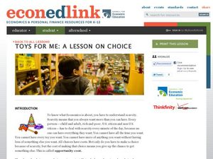 Toys For Me:  A Lesson of Choice Lesson Plan