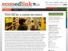 Toys for Me: A Lesson on Choice Lesson Plan