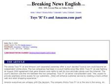 Toys 'R' Us and Amazon.com Part-Easier Lesson Worksheet