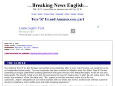 Toys 'R' Us and Amazon.com Part-Harder Lesson Worksheet