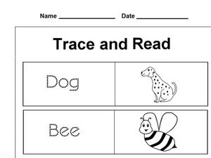 Trace and Read 2 Worksheet