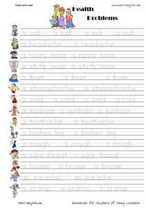 Trace and Read: Health Problems Worksheet