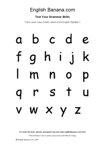 Trace Lowercase Letters of the Alphabet Worksheet