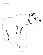 Trace the Bear Worksheet