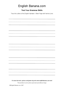 Trace the Letters of the English alphabet Worksheet