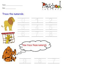 Trace the Numerals Worksheet