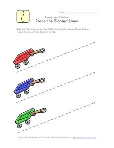 Trace the Slanted Lines Worksheet