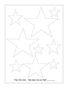 Trace the Stars Worksheet