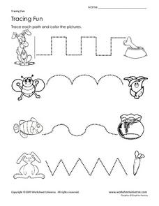 Tracing Fun Worksheet