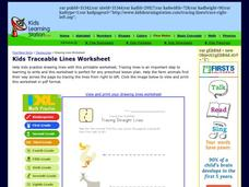 Tracing Lines Worksheet: Tracing Straight Lines Worksheet