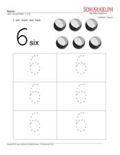 Tracing Numbers – 6 to 10 Worksheet