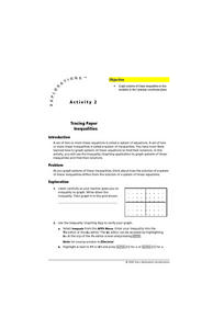 Tracing Paper Inequalities Lesson Plan