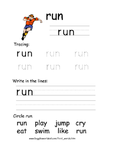 Tracing: run Worksheet