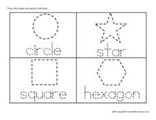 Tracing the Shapes Worksheet