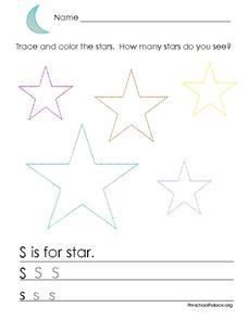 Tracing the Stars and Printing Ss Lesson Plan