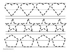 Tracing Three Shapes Worksheet