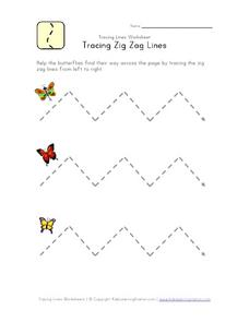 Tracing Zig Zag Lines Worksheet