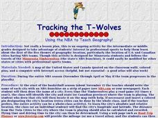Tracking the T-Wolves Lesson Plan