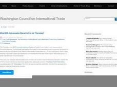 Trade Creates Opportunities Lesson Plan