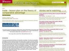 Trade -- Lesson Plan on the Theory of Comparative Advantage Lesson Plan