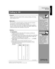 Trading to 100 Lesson Plan