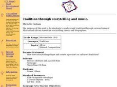 Tradition through storytelling and music Lesson Plan