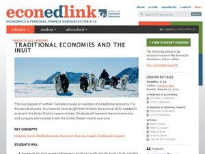 Traditional Economies and the Inuit Lesson Plan