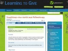Traditions - Our World and Philanthropy Lesson Plan