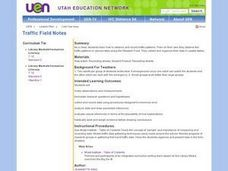 Traffic Field Notes Lesson Plan