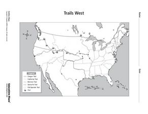 Trails West Map Worksheet