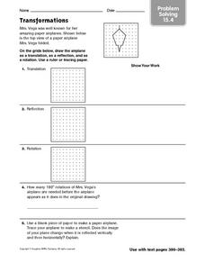 Transformations: Problem Solving Worksheet