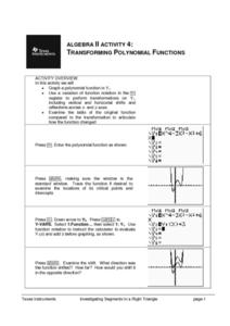 Transforming Polynomials Functions Lesson Plan
