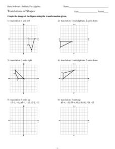 Translation of Shapes 9th - 12th Grade Worksheet | Lesson Planet