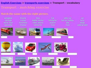 Transport: Vocabulary Worksheet