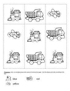 Transportation Color and Sort Worksheet
