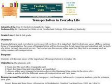 Transportation in Everyday Life Lesson Plan