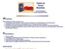 Trash on Texas Beaches Lesson Plan