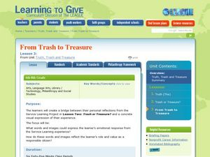 Trash to Treasures Lesson Plan
