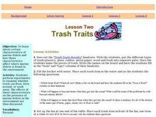 Trash Traits: Marine Debris, Litter, Ecology, Oceans Lesson Plan