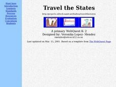 Travel the States Lesson Plan